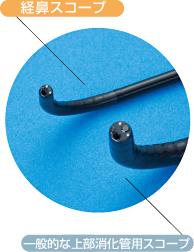 経鼻スコープと一般的な上部消化管用スコープ